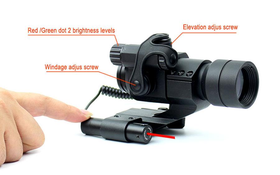 Long Xiang Optics-Green Red Dot Laser Scope Red Dot Laser Combo Hd-1+jg11 3x Red Dot-6