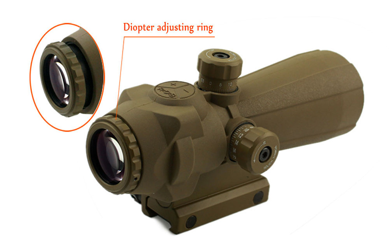 Long Xiang Optics-Professional 5x Wide Filed Of View Red Dot Scope With Magnification 141-5x40-3