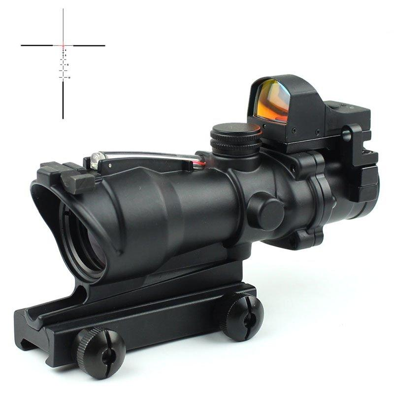 Illuminated Mil Dot Tactical Scopes W/ DR Drop Bullet Circle  4x32C2A-R