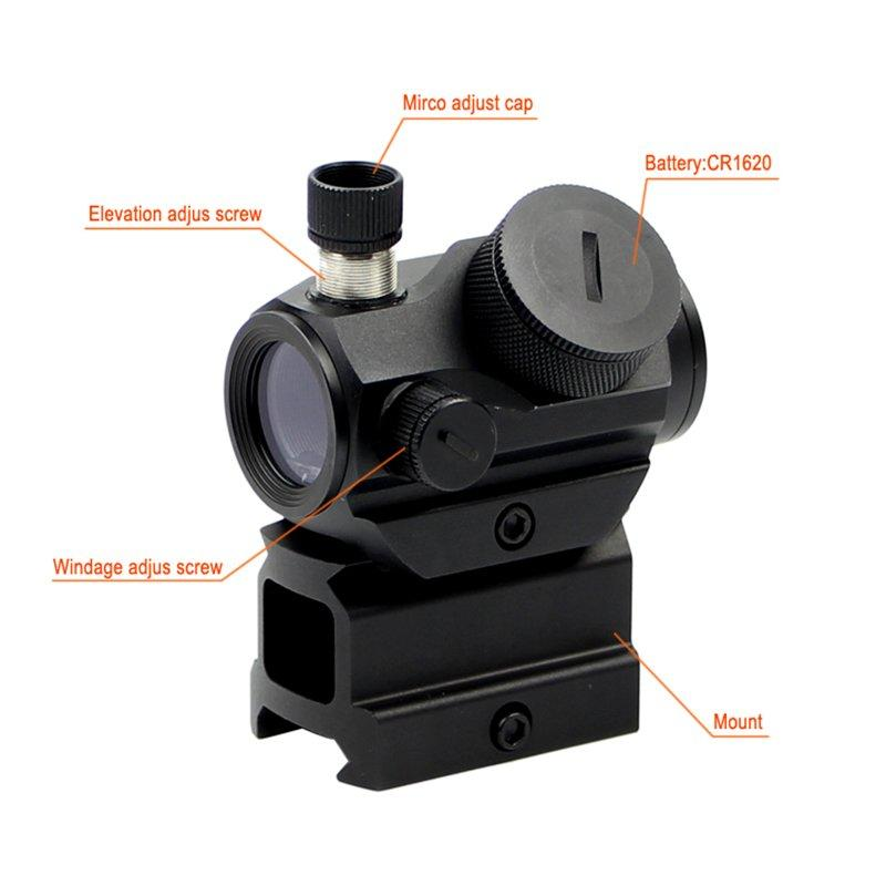 scope 21mm laser m2b Long Xiang Optics red dot sight reviews