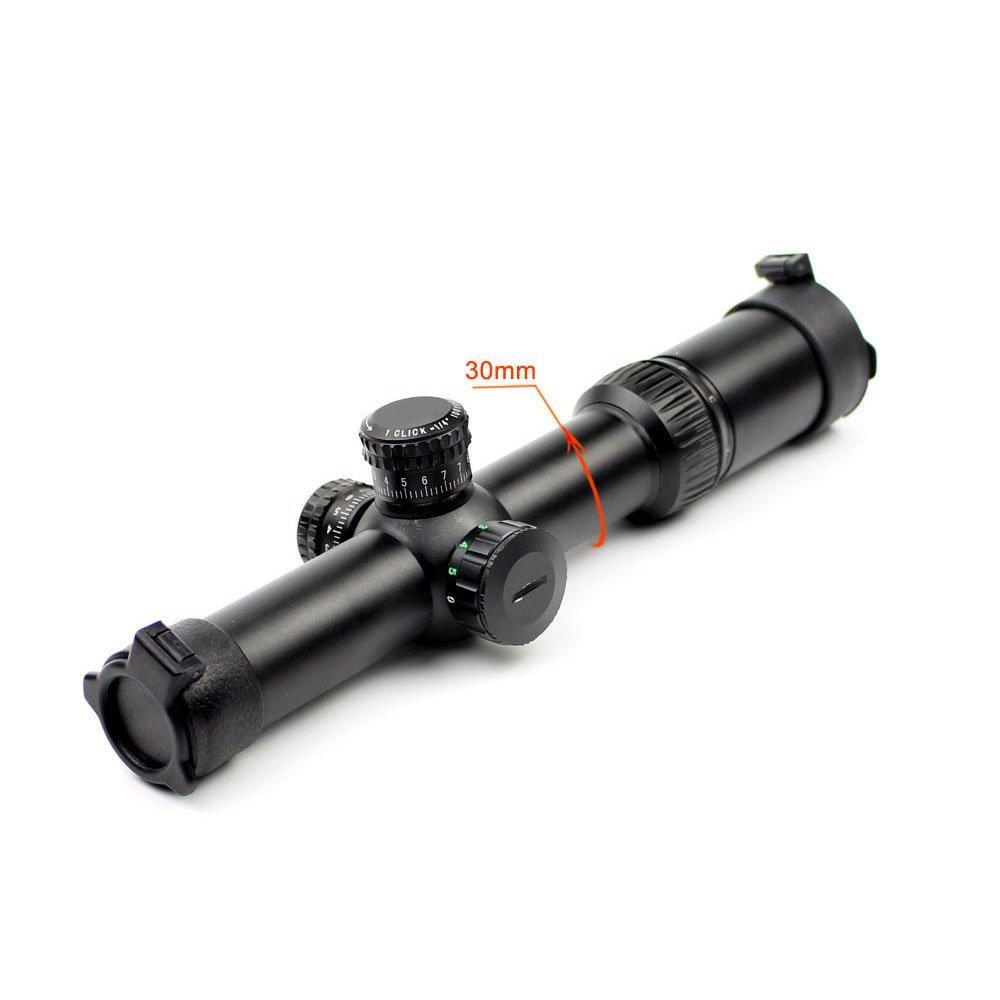 1 Tube 1/4 Moa Aluminium Bar FFP Rifle Scope Long Range Hunting  Q1.5-6x24E
