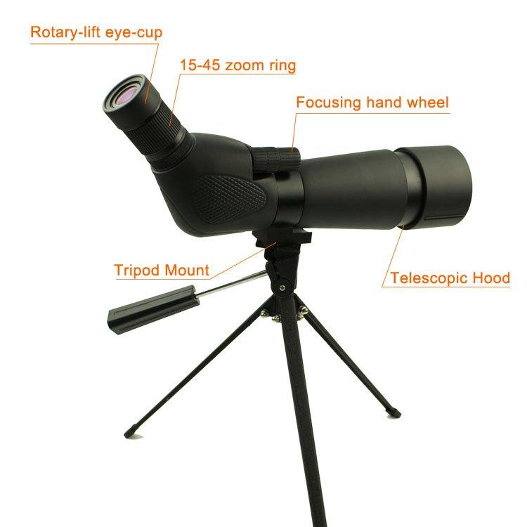 Best Zoom Extendable Monocular Telescope For Bird Watching SP03-15-45x60WP