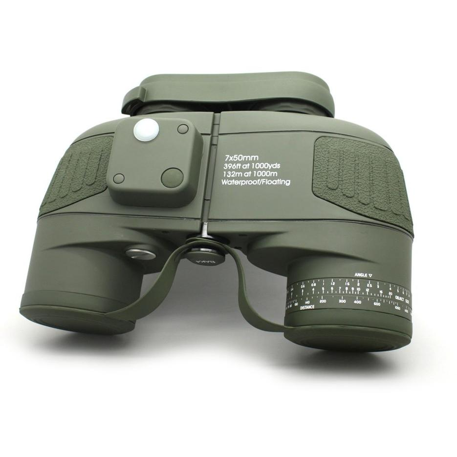 Army Green Celestron Cometron 7x50 Powerful Binoculars With Rangefinder  MZ7x50B