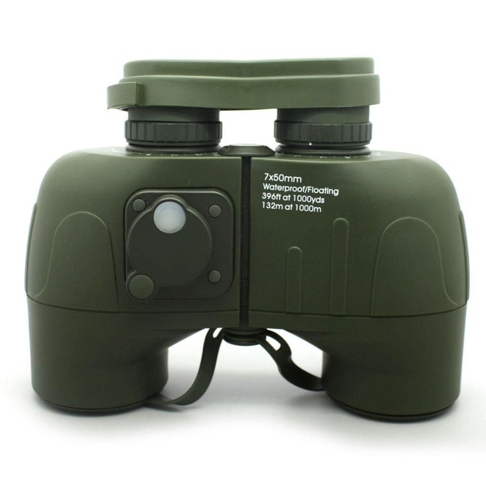 Army Green Mil Spec Porro 7x50 Binoculars With Compass MZ7x50C