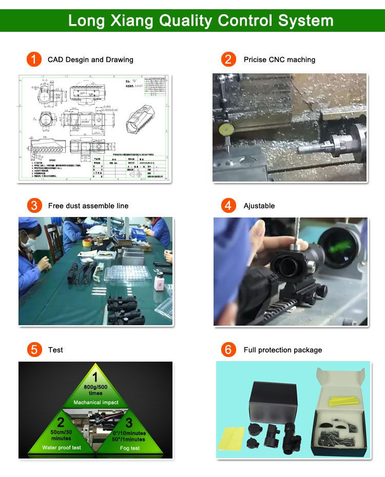 Long Xiang Optics-Illuminated Mil Dot Tactical Scopes W Dr Drop Bullet Circle 4x32c2a-r-8
