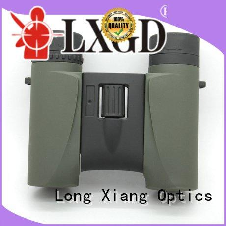 compact waterproof binoculars army angle OEM waterproof binoculars Long Xiang Optics