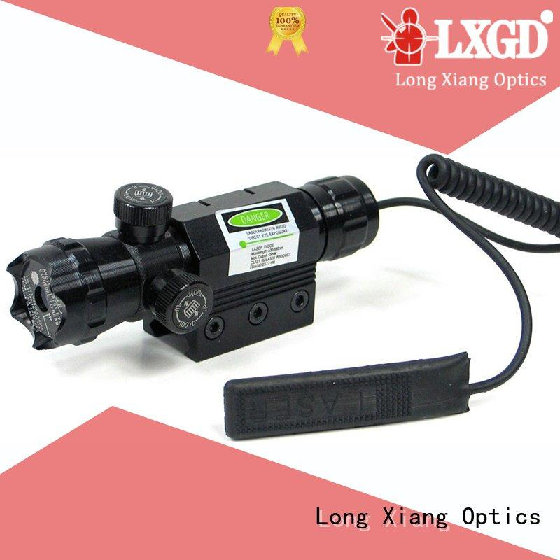 tactical flashlight with laser rifle Long Xiang Optics Brand tactical laser pointer
