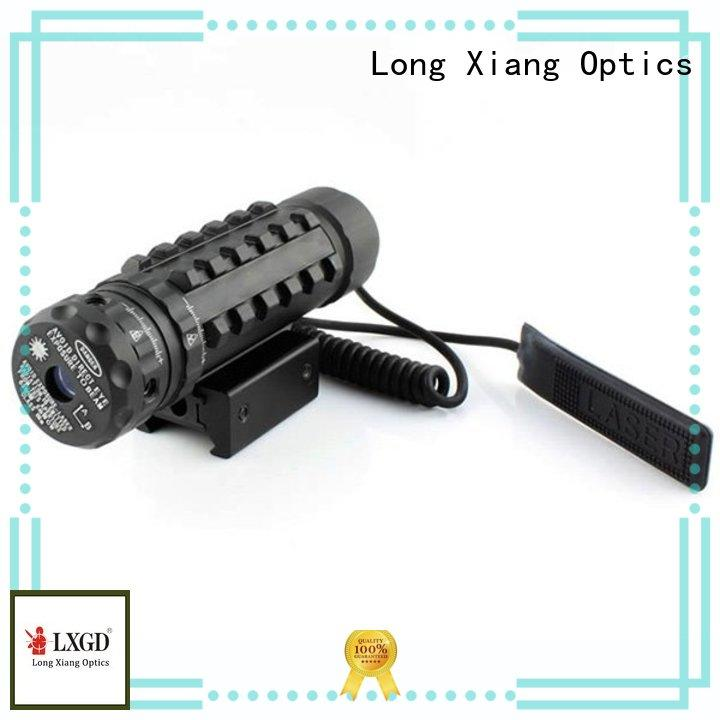tactical flashlight with laser rifle collimator Long Xiang Optics Brand tactical laser pointer