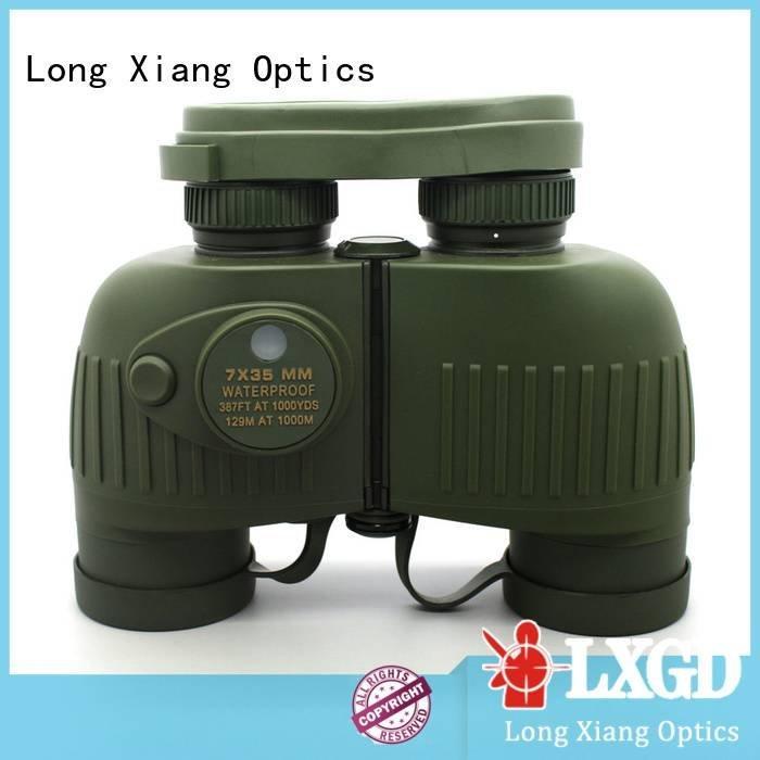 Long Xiang Optics compact waterproof binoculars customized nitrogen angle wide