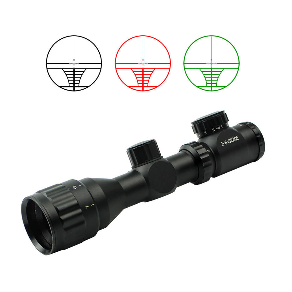 Hot sale scope 2-6x32AOE rifle scope for airsoft