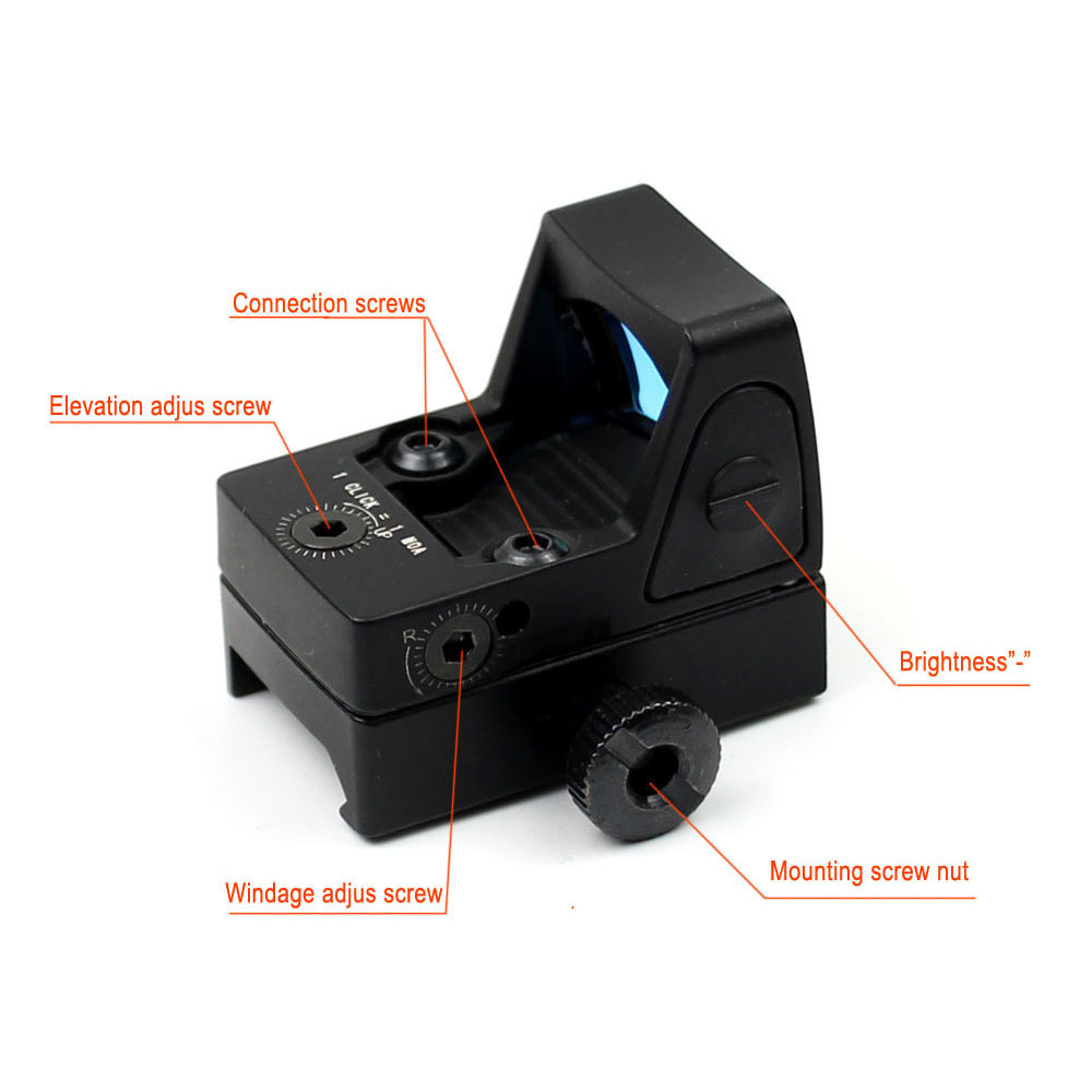 Long Xiang Optics-RMR Red Dot Reflex Sight 800g Shockproof 2-3 MOA Red Dot Scope-3