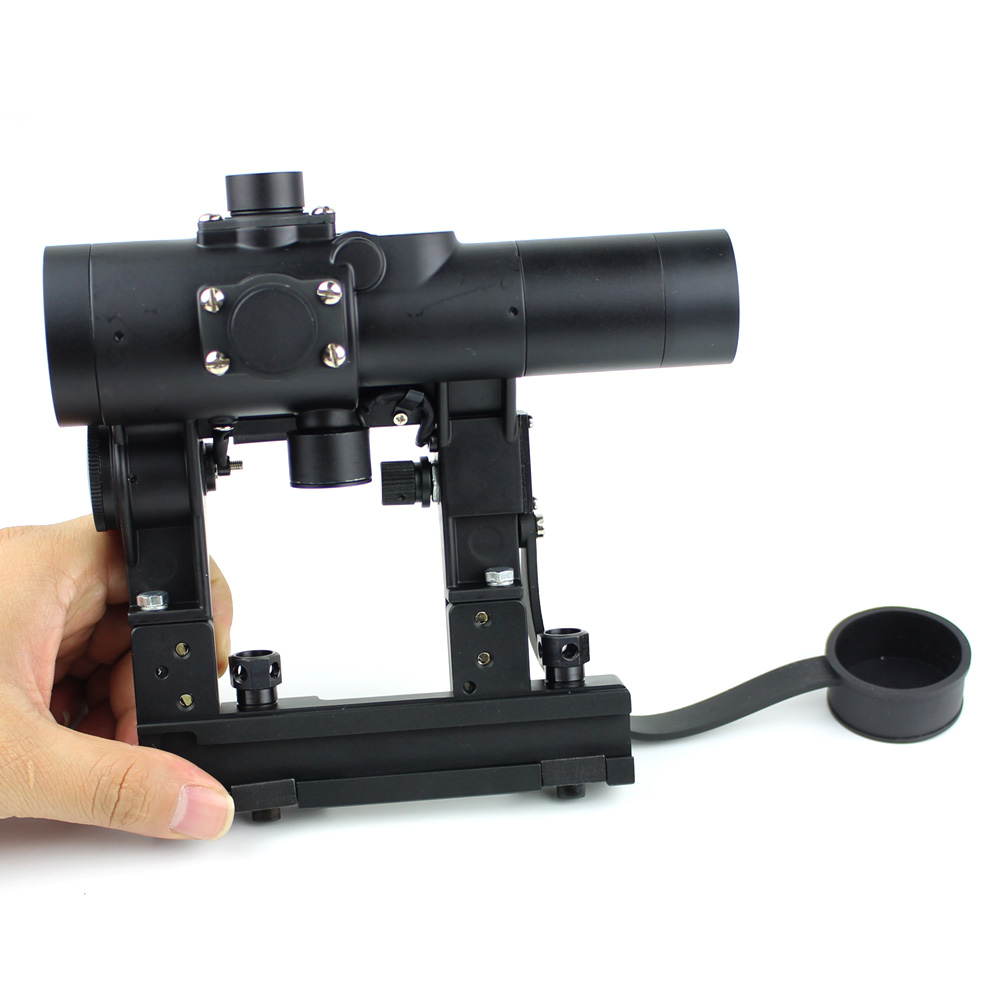 Long Xiang Optics-Military Tactical Scope For Ak 47 Gun Fmc Red Dot Sight 1x24-5