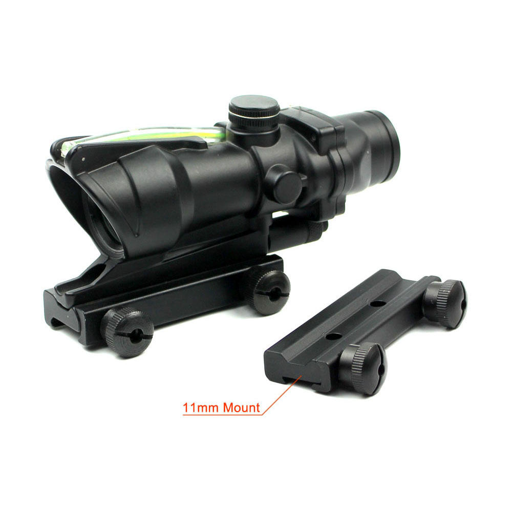 Hunting 1x32 Scopes Sight Optics Real Fiber R or G Dot Rifle Scope w20/11mm rail HD-2CRQ