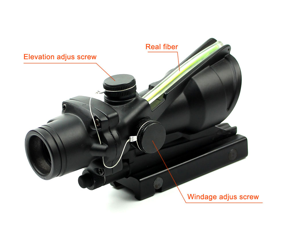 Long Xiang Optics-1x32 Scopes Sight Optics Real Fiber R or G Dot Scope w2011mm rail-5