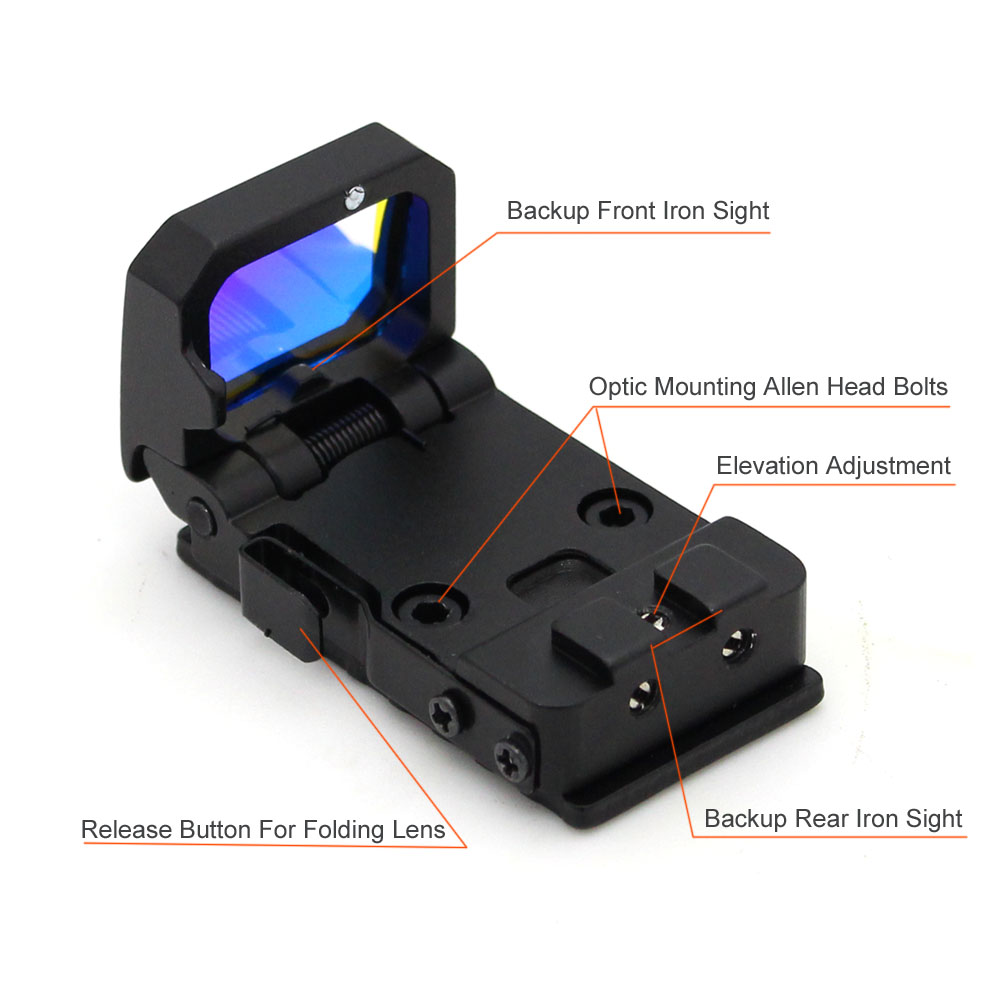 Long Xiang Optics-2018 New Design Foldable Red Dot Sight Cheap Price Kf06 | Red Dot Sight-2
