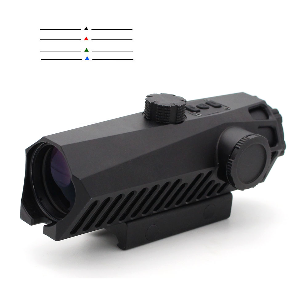 Long Xiang Optics-Fixed Power Tactical Scopes Red Green Blue Reticle Ar Sights 4x32