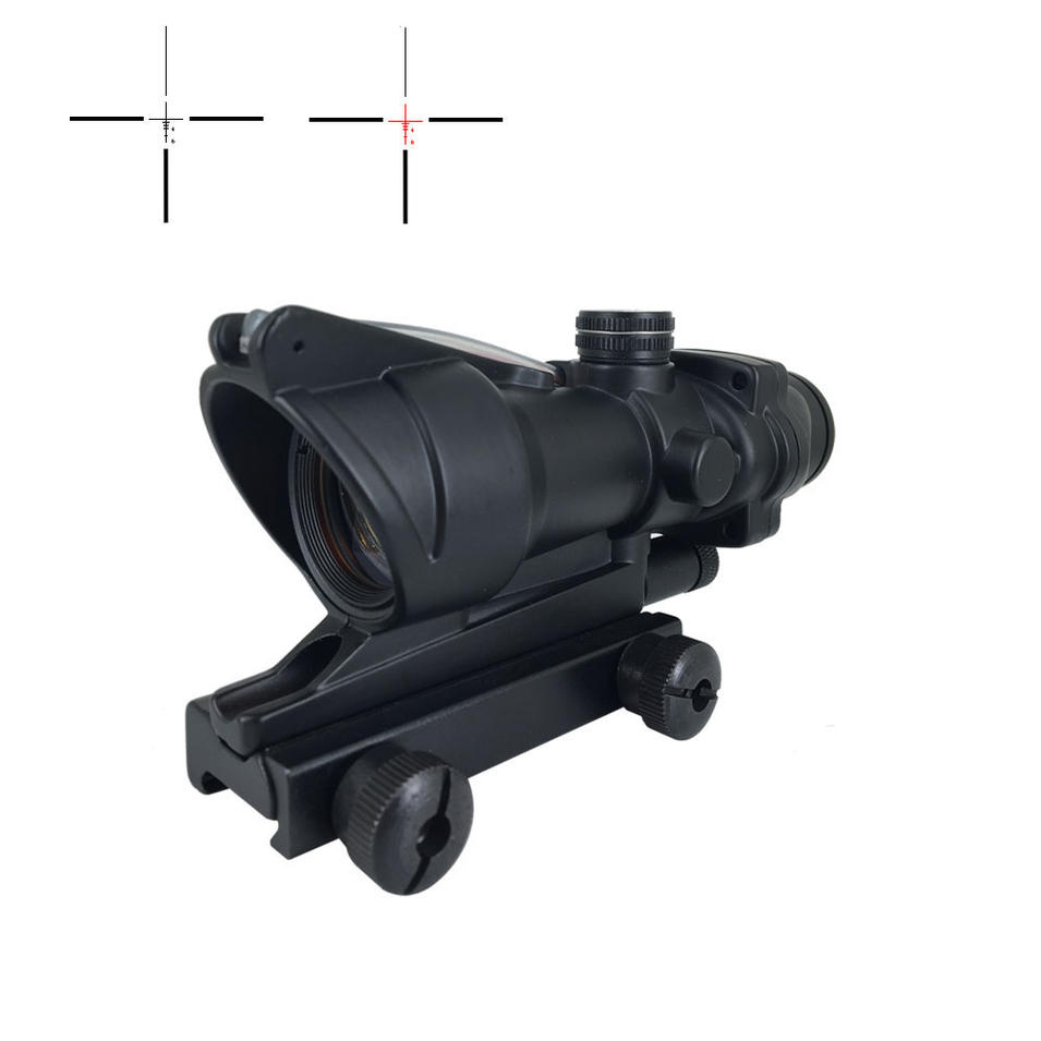 Factory Direct Sale 223 Tactical Scope w/False Fiber Crosshair 4x Long Range Precision Scopes 4x32CE