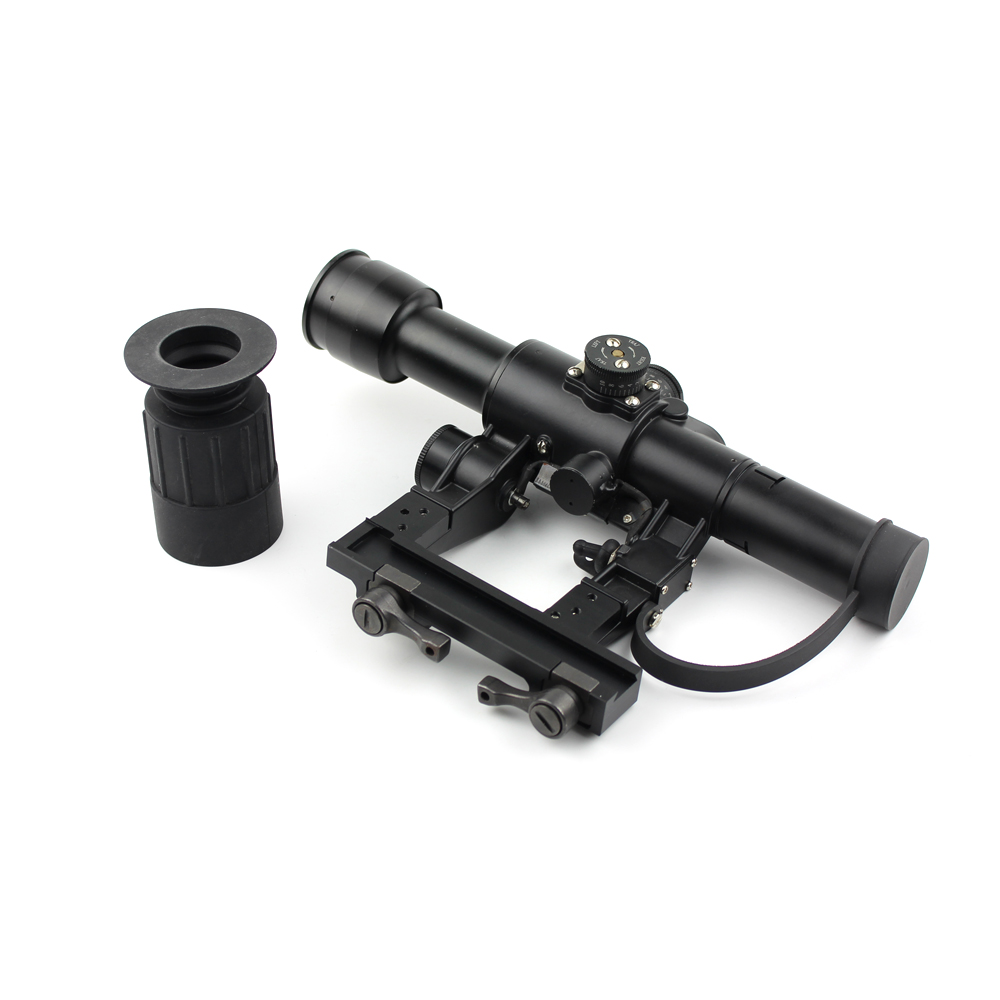 Long Xiang Optics-Rangefinding Tactical Magnifier Rifle Scope 4 x 26 For Ak Exclusive-3