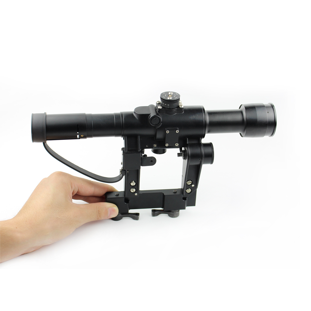 Long Xiang Optics-Rangefinding Tactical Magnifier Rifle Scope 4 x 26 For Ak Exclusive-5