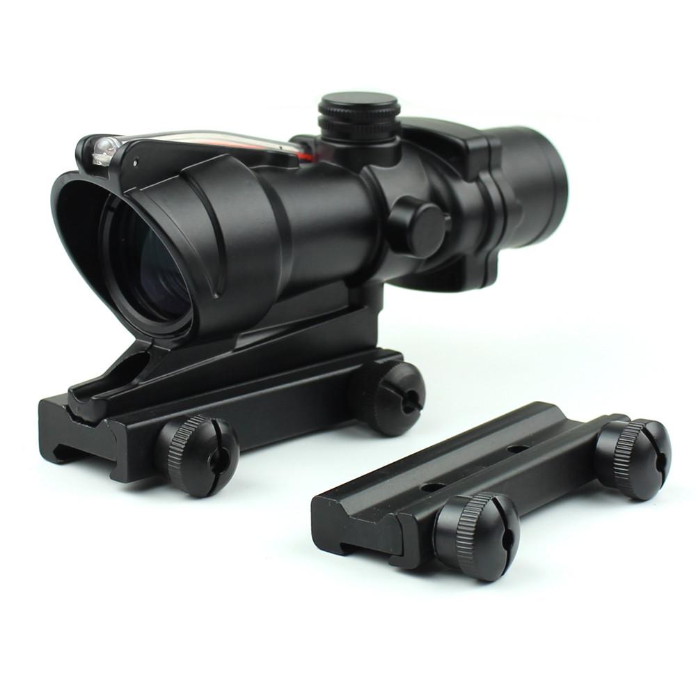 Long Xiang Optics-New Fiber Optic Illuminated Rifle Scope 4x Magnification 4x32c | Tactical-2