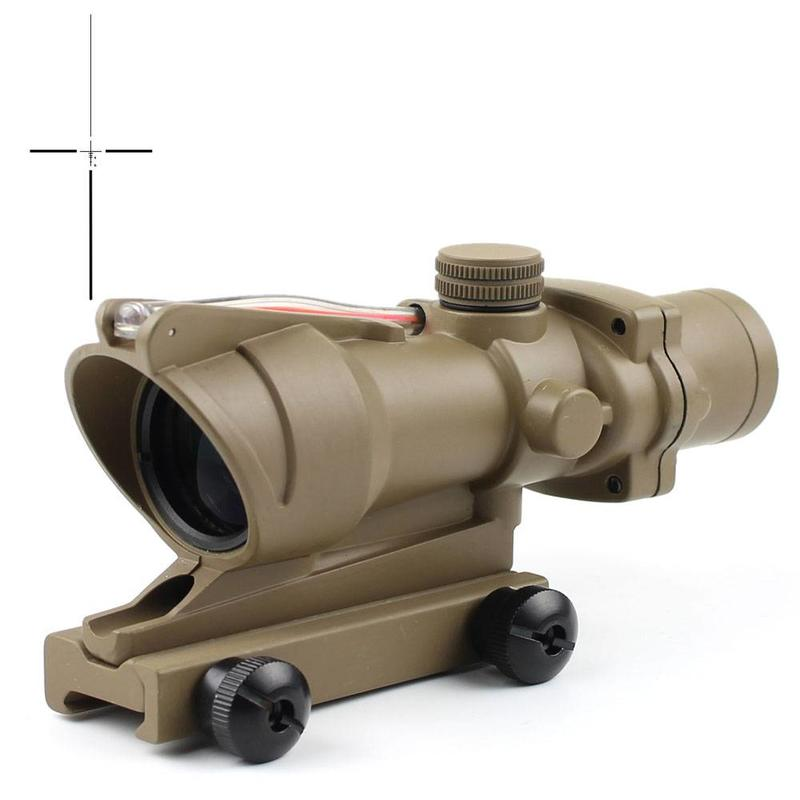 New Fiber Optic Illuminated Rifle Scope 4x Magnification 4x32C